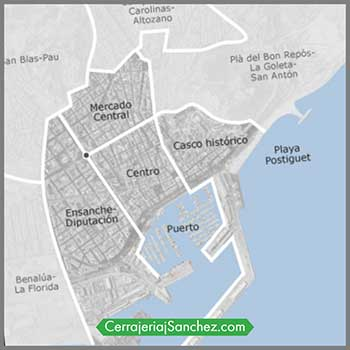 Centro ciudad de Alicante